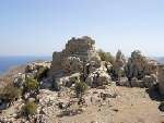 Tilos - Mikro Horio, the watch-tower